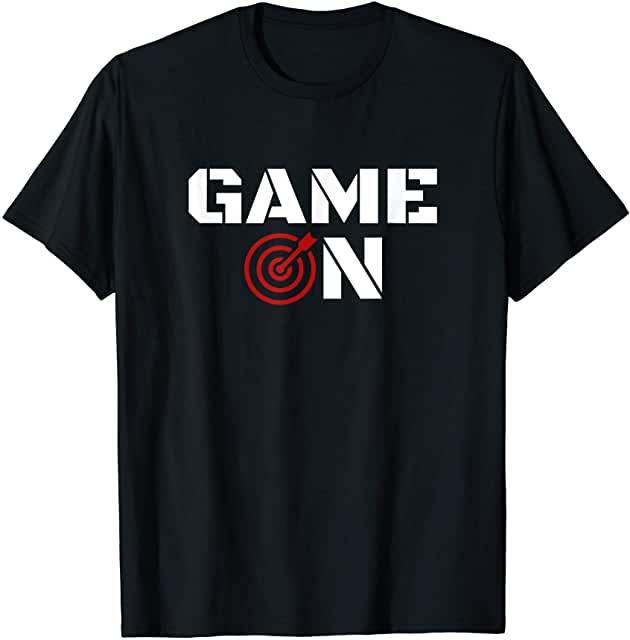 Darts Spruch Game On für alle Dartspieler und Darts Fans Darts T-Shirt