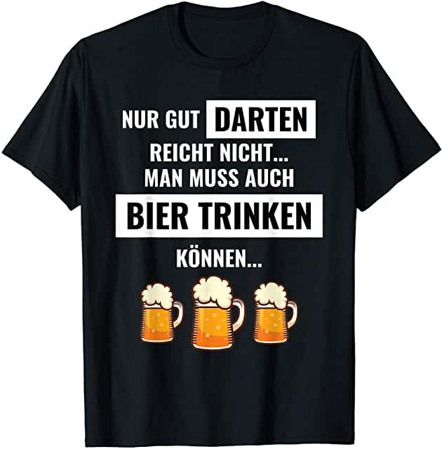 Lustiger Spruch zu Darts und Bier